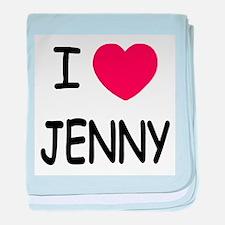 I heart JENNY baby blanket