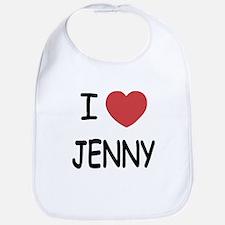 I heart JENNY Bib
