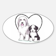 Bearded Collies Sticker (Oval)