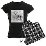 Bearded collie Women's Pajamas Dark