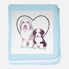 Bearded Collies baby blanket