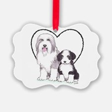 Bearded Collies Ornament