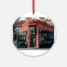 Greenwich Village: Village Cigars Ornament (Round)