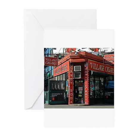 Greenwich Village: Village Cigars Greeting Cards (