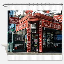 Greenwich Village: Village Cigars Shower Curtain