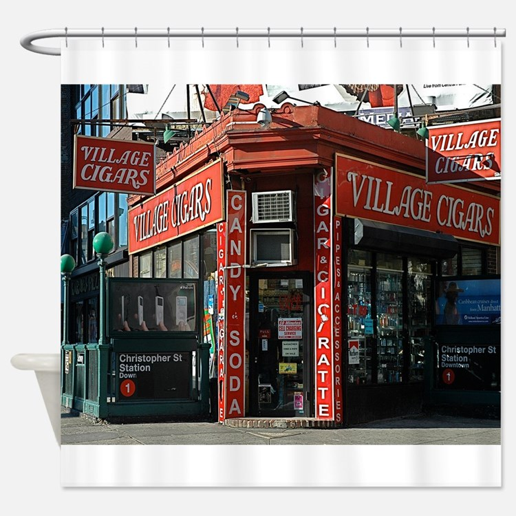 Greenwich Village: Village Cigars Shower Curtain