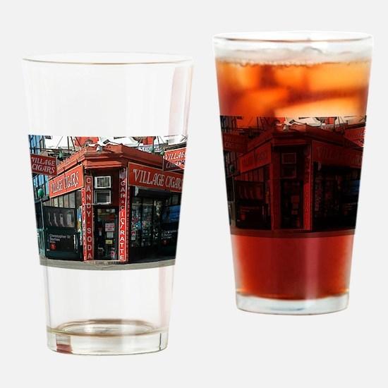 Greenwich Village: Village Cigars Drinking Glass