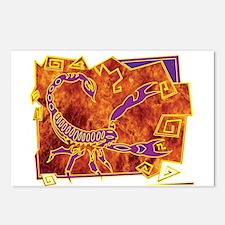 Scorpio Tribal Tattoo Postcards (Package of 8)