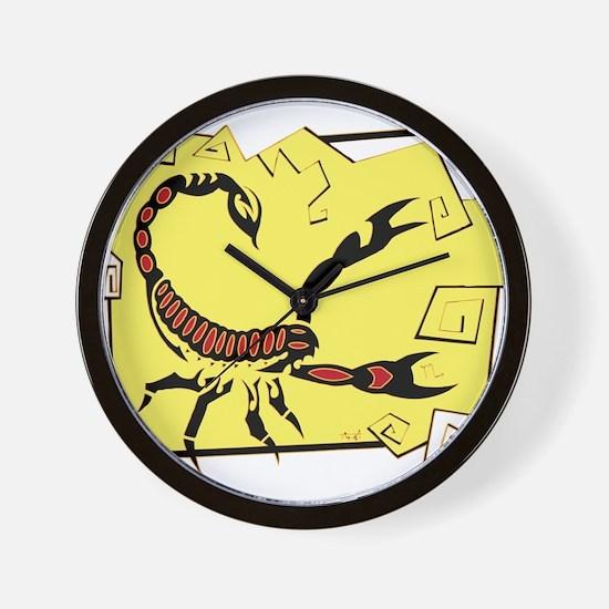 Scorpio Tribal Tattoo Wall Clock