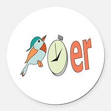 Bird Watcher Round Car Magnet