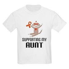 Support Aunt Orange Ribbon T-Shirt