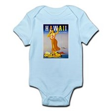 Hawaii Travel Poster 1 Infant Bodysuit
