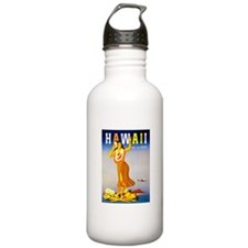 Hawaii Travel Poster 1 Water Bottle