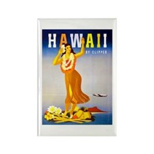 Hawaii Travel Poster 1 Rectangle Magnet (10 pack)