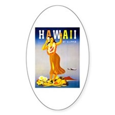 Hawaii Travel Poster 1 Decal