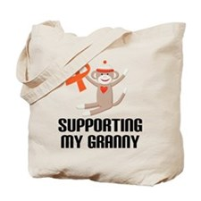Support Granny Orange Ribbon Tote Bag