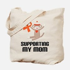 Support Mom Orange Ribbon Tote Bag
