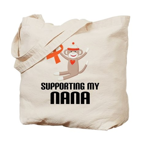 Support Nana Orange Ribbon Tote Bag