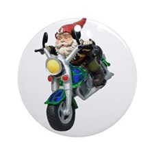 Gnomes On Hogs Ornament (Round)