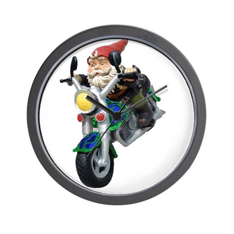 Gnomes On Hogs Wall Clock