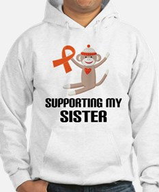 Support Sister Orange Ribbon Hoodie Sweatshirt