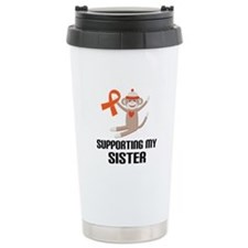 Support Sister Orange Ribbon Travel Mug