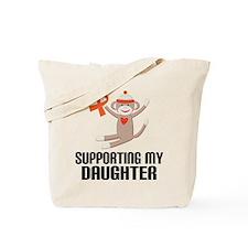 Support Daughter Orange Ribbon Tote Bag