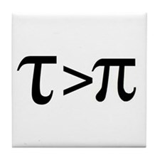 Tau Greater than Pi Tile Coaster