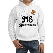 MS Awareness Orange Butterfly Hoodie
