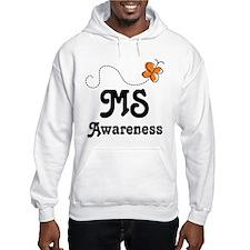 MS Awareness Orange Butterfly Jumper Hoody