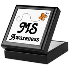 MS Awareness Orange Butterfly Keepsake Box