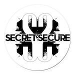 Secret Secure Round Car Magnet