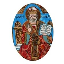 Saint Nicholas Of Myra Ornament (oval)
