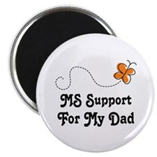 Support Dad MS Butterfly Magnet
