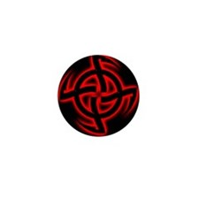 Cosmic Wheel Red Mini Button (100 pack)