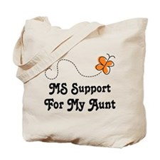 Support Aunt MS Butterfly Tote Bag