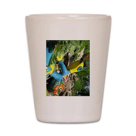 Garden Lizard Shot Glass