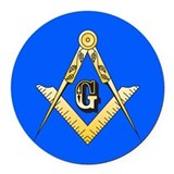 Masonic Round Car Magnets