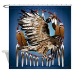 Dream Catcher Hawk Shower Curtain