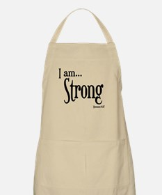 I am Strong Romans 8:37 Apron