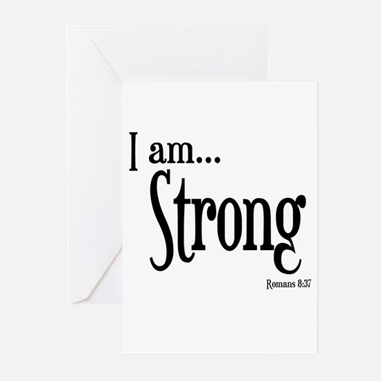 I am Strong Romans 8:37 Greeting Cards (Pk of 20)