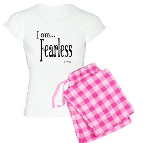 I am Fearless II Timothy 1:7 Women's Light Pajamas