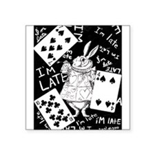 "late white rabbit.jpg Square Sticker 3"" x 3"""