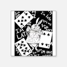 "late white rabbit.jpg Square Sticker 3"" x 3"""
