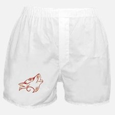 Howling Wolf Red Tan Boxer Shorts