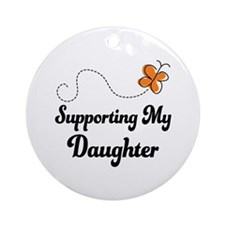 Support Daughter Orange Awareness Ornament (Round)