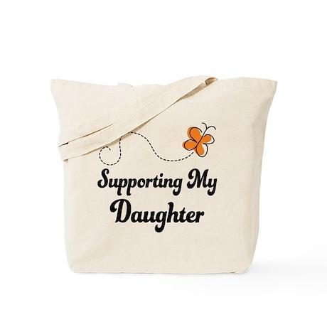 Support Daughter Orange Awareness Tote Bag