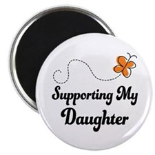 Support Daughter Orange Awareness Magnet