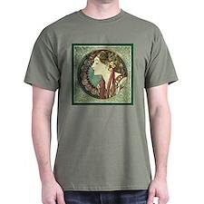 Alphonse Mucha Laurel T-Shirt