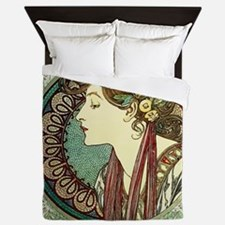 Alphonse Mucha Laurel Queen Duvet